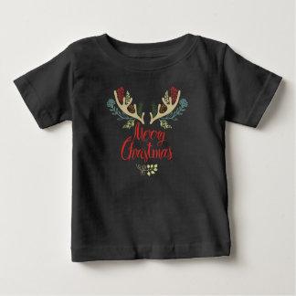 T-shirt Pour Bébé Belle chemise des andouillers   de renne de Noël