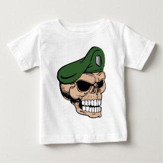 T-shirt Pour Bébé Béret vert de crâne