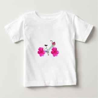 T-shirt Pour Bébé Bicyclette de poussoir de pétale