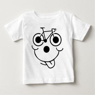 T-shirt Pour Bébé Bicyclette drôle de visage