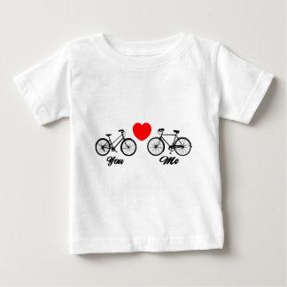 T-shirt Pour Bébé Bicyclette je t'aime