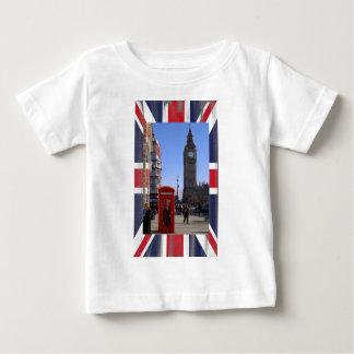T-shirt Pour Bébé Big Ben et cabine téléphonique rouge à Londres
