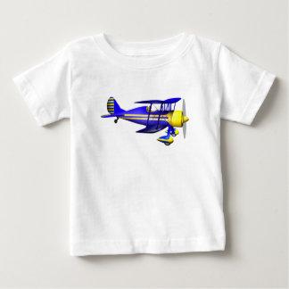 T-shirt Pour Bébé Biplan bleu brillant