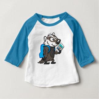 T-shirt Pour Bébé Blaireau Selfie de boomer du raton laveur | de
