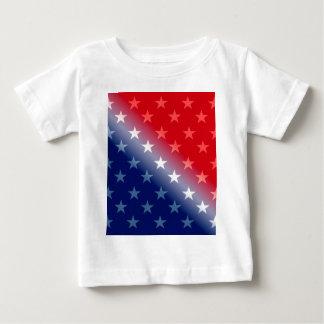 T-shirt Pour Bébé bleu blanc rouge patriotique de l'Amérique