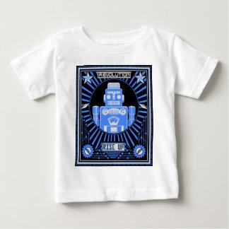 T-shirt Pour Bébé Bleu de révolte de robot
