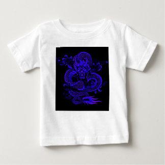 T-shirt Pour Bébé Bleu épique de dragon