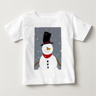 T-shirt Pour Bébé Bonhomme de neige - argent