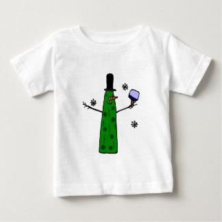 T-shirt Pour Bébé Bonhomme de neige drôle de conserves au vinaigre