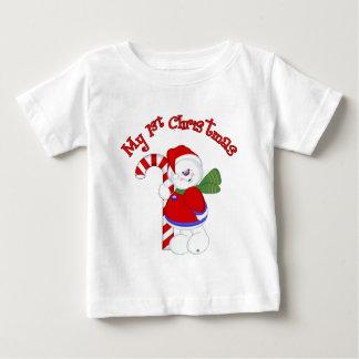 T-shirt Pour Bébé Bonhomme de neige et Noël de Candycane ęr
