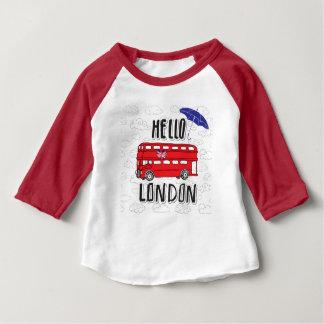 T-shirt Pour Bébé Bonjour signe en lettres de main de Londres | avec