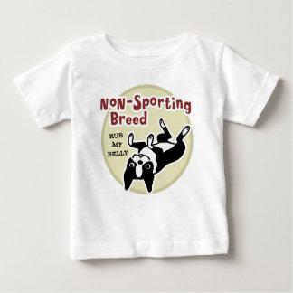 """T-shirt Pour Bébé Boston Terrier """"race Non-Sportive """""""