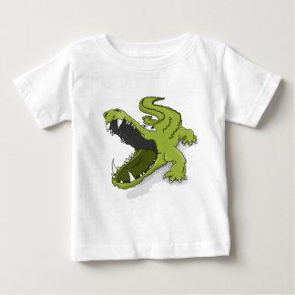T-shirt Pour Bébé Bouche verte d'alligator de crocodile de bande