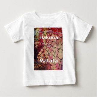 T-shirt Pour Bébé Boue criquée sèche de lion de Hakuna Matata