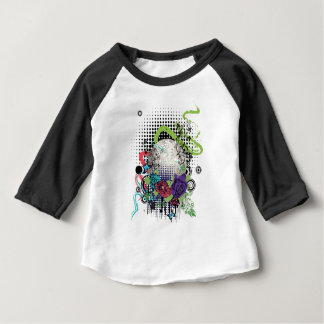 T-shirt Pour Bébé Boule argentée grunge de disco