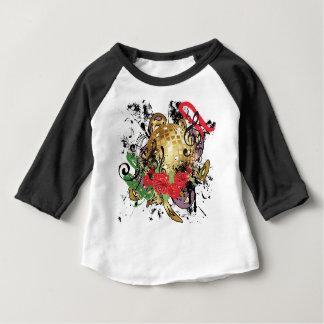T-shirt Pour Bébé Boule grunge 2 de disco d'or