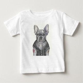 T-shirt Pour Bébé Bouledogue français de cycliste