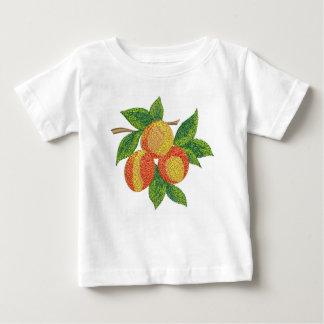 T-shirt Pour Bébé branche de pêche, imitation de broderie