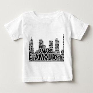 T-shirt Pour Bébé Brooklyn New York illustré avec le mot d'amour
