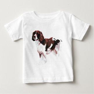 T-shirt Pour Bébé Brown et springer spaniel blanc