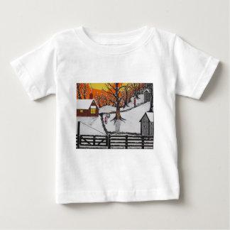 T-shirt Pour Bébé Cabine de région forestière inexploitée