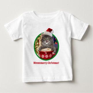 T-shirt Pour Bébé Cacao chaud Kitty de Noël mignon
