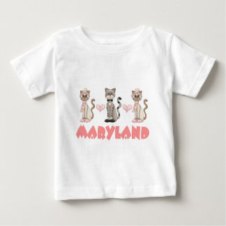 T-shirt Pour Bébé Cadeau de chat du Maryland Kitty
