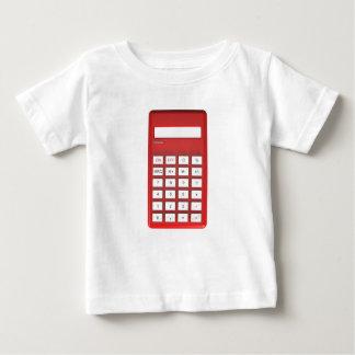 T-shirt Pour Bébé Calculatrice rouge de calculatrice