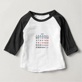 T-shirt Pour Bébé Calendrier ce qui le WTF