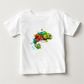 T-shirt Pour Bébé Caméléon coloré de croquis de main