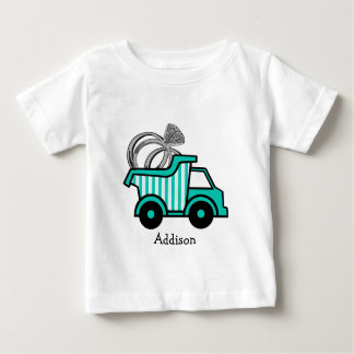 T-shirt Pour Bébé Camion à benne basculante de porteur d'alliances