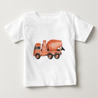 T-shirt Pour Bébé Camion orange concret de jouet de ciment