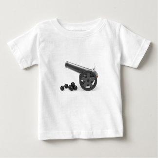 T-shirt Pour Bébé Canon avec les bombes noires