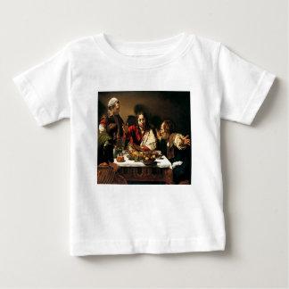 T-shirt Pour Bébé Caravaggio - dîner chez Emmaus - peinture