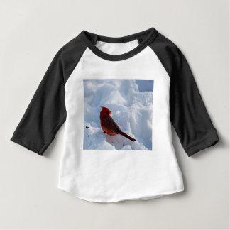 T-shirt Pour Bébé Cardinal dans la neige