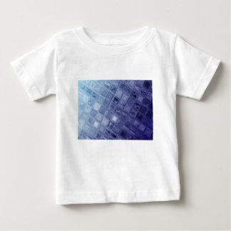 T-shirt Pour Bébé Carrés bleus