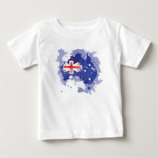 T-shirt Pour Bébé Carte d'aquarelle de l'Australie