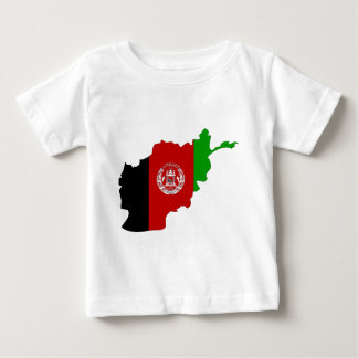 T-shirt Pour Bébé Carte de drapeau de l'Afghanistan normale