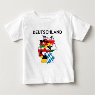 T-shirt Pour Bébé carte de drapeau de l'Allemagne