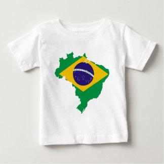 T-shirt Pour Bébé carte de drapeau du Brésil