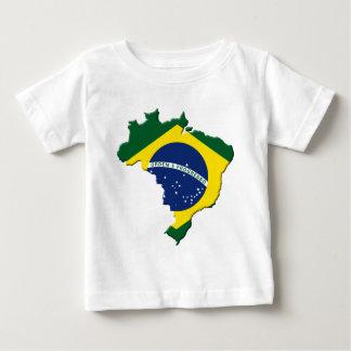 T-shirt Pour Bébé Carte du Brésil