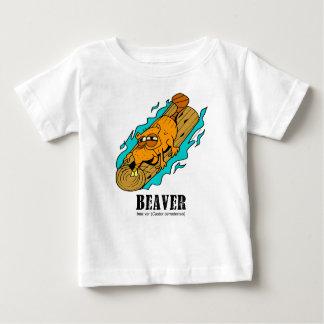 T-shirt Pour Bébé Castor par Lorenzo