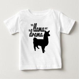 T-shirt Pour Bébé Ce lama ne font pas le drame