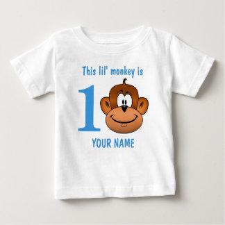 T-shirt Pour Bébé Ce singe de Lil est de l'un premier anniversaire