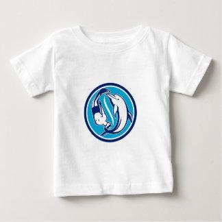 T-shirt Pour Bébé Cercle libre de Yin Yang de plongeur et de dauphin