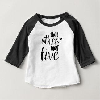 """T-shirt Pour Bébé """"Ces autres peuvent vivre"""" pièce en t de base-ball"""