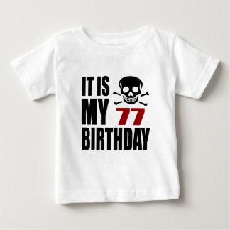 T-shirt Pour Bébé C'est mes 77 conceptions d'anniversaire