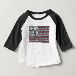 T-shirt Pour Bébé C'est mon pays