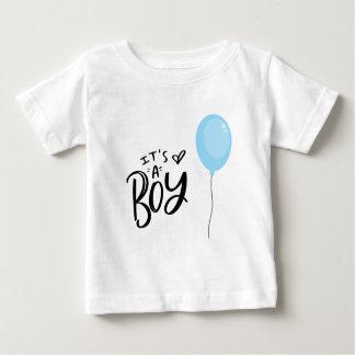 T-shirt Pour Bébé C'est un garçon avec le ballon bleu