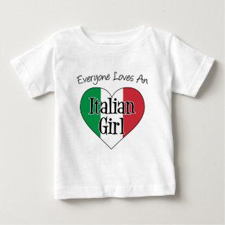 T-shirt Pour Bébé Chacun aime une fille italienne